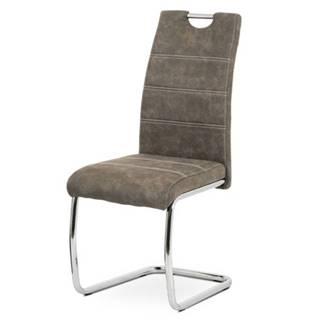 Jedálenská stolička ZOEY hnedá/kov