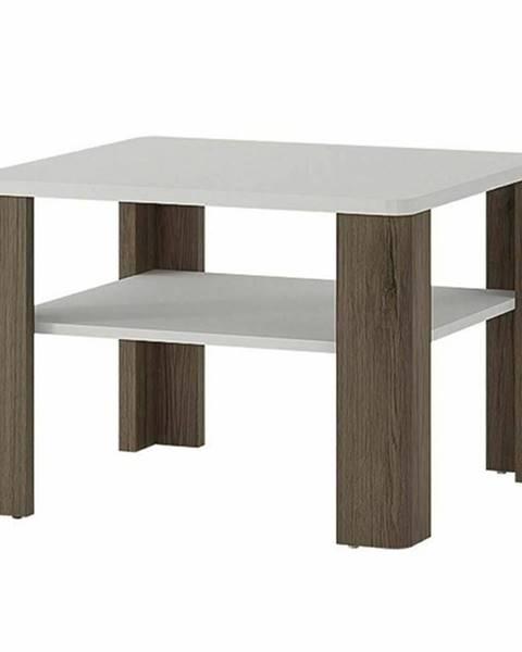 Sconto Konferenčný stolík MILANO alpská biela/dub sanremo tmavý