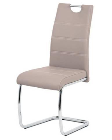 Jedálenská stolička GROTO béžová/strieborná