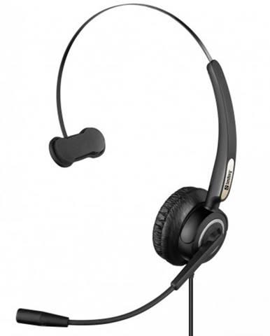 Slúchadlá Sandberg USB Pre Mono s mikrofónom, čierna