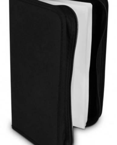 Puzdro COVER IT NN204 na 96 CD/DVD, zapínacie, čierne