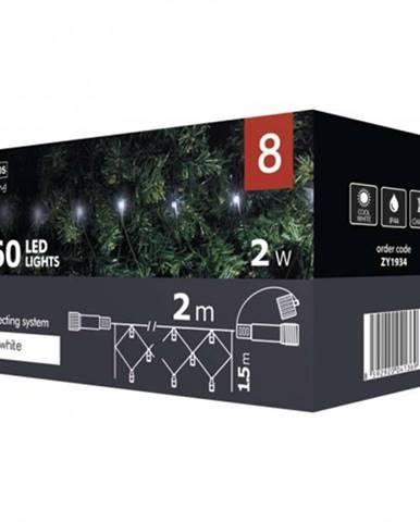 Vianočné osvetlenie Emos ZY1934, sieť, studená biela, 2 m ROZBALE