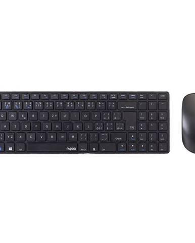 Klávesnica s myšou Rapoo 9300M, CZ/SK layout čierna
