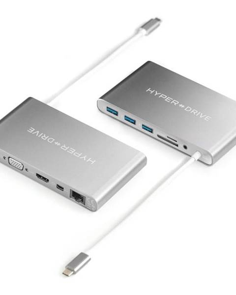 HyperDrive USB Hub HyperDrive Ultimate USB-C Hub strieborný