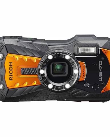 Digitálny fotoaparát Ricoh WG70 oranžov
