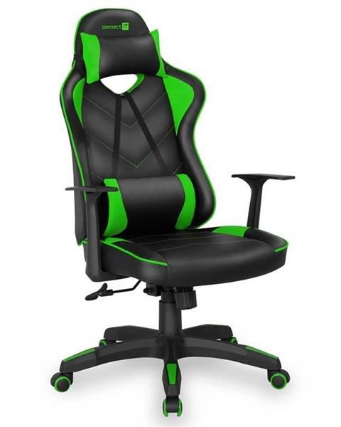 Connect IT Herná stolička Connect IT LeMans Pro čierna/zelená