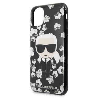 Kryt na mobil Karl Lagerfeld Flower na Apple iPhone 11 čierny