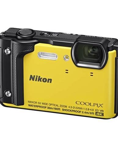 Digitálny fotoaparát Nikon Coolpix  W300 + 2 v 1 plávací popruh žlt