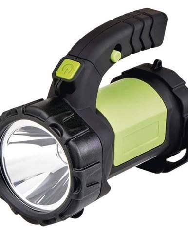 Lampáš Emos LED P4526, 5W Cree + COB LED čierna/zelená