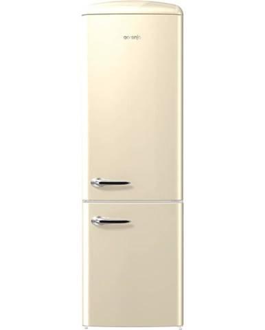 Kombinácia chladničky s mrazničkou Gorenje Retro Onrk193c krémov