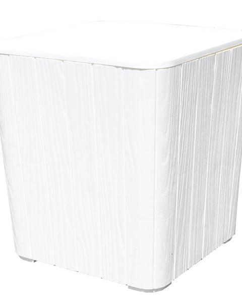 Kondela Záhradný úložný box/príručný stolík biela IBLIS