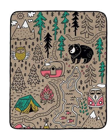 Butter Kings Skladacia kempingová deka Camping, 145 x 180 cm