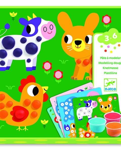 Djeco Výtvarný set s plastelínou Djeco Rozkošné zvieratk
