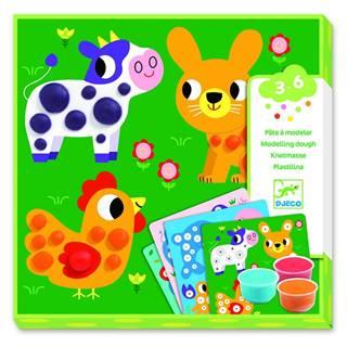 Výtvarný set s plastelínou Djeco Rozkošné zvieratk