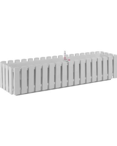 Biely črepník Gardenico Fency System, dĺžka 75 cm