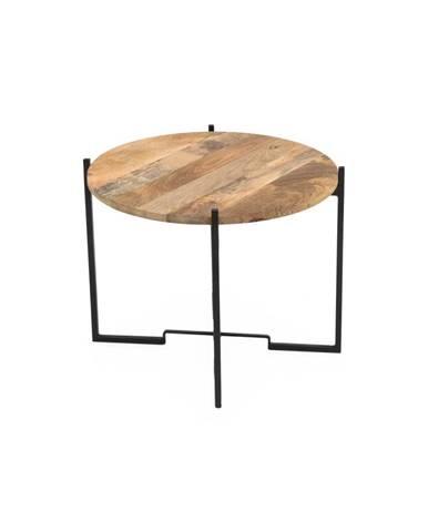 Konferenčný stolík so železnou konštrukciou WOOX LIVING Fera, ⌀ 63 cm