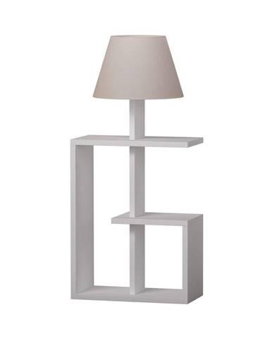 Biela voľne stojacia lampa Homitis Saly