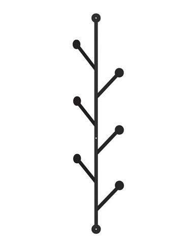 Čierny kovový nástenný vešiak Branch