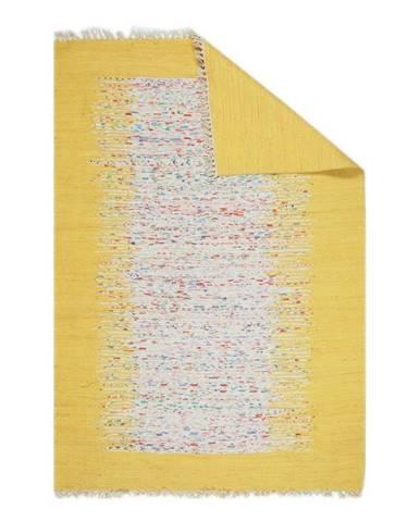 Žltý behúň Eco Rugs Yolk, 80×300 cm