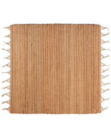 Hnedý ručne vyrobený koberec Nattiot Saheli, 140×140 cm