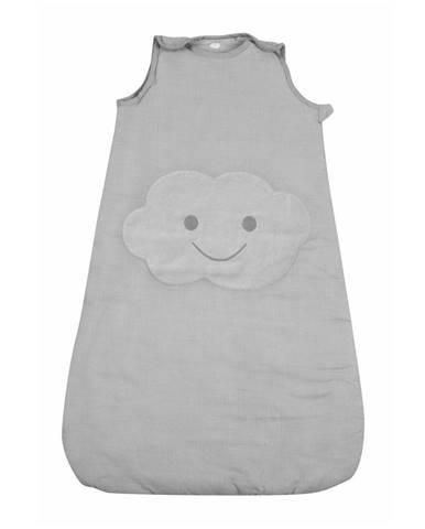Sivý prešívaný spací vak pre bábätko Nattiot Nimbus, dĺžka 83 cm