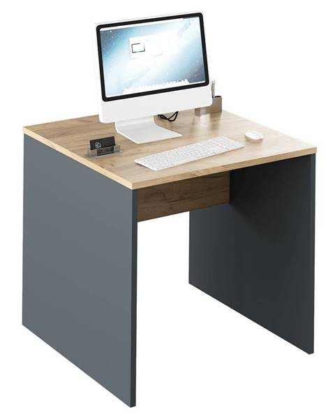 Kondela Písací stôl grafit/dub artisan RIOMA NEW TYP 17