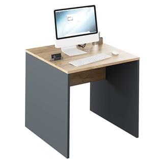 Písací stôl grafit/dub artisan RIOMA NEW TYP 17
