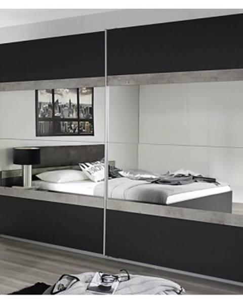 ASKO - NÁBYTOK Šatní skříň Penzberg, 226 cm, šedá/beton%