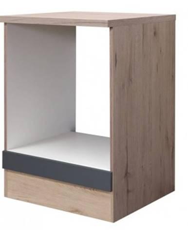 Kuchynská skrinka pre vstavanú rúru Tiago HU60, dub sonoma/šedá, šírka 60 cm%
