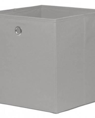 Úložný box Alfa, svetlo šedý%