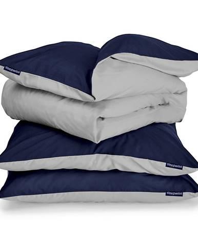 Sleepwise Soft Wonder-Edition, posteľná bielizeň, tmavomodrá, 155 × 200 cm, 80 x 80 cm