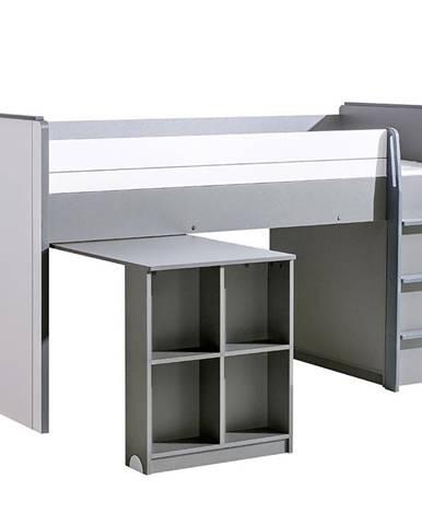 Posteľ z Písací stôl  Gumi G15 Brilantná biela/Antracyt