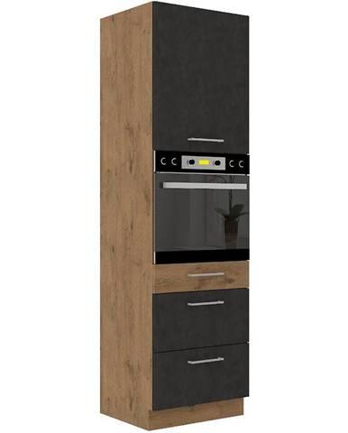 Skrinka do kuchyne VIGO grafit mat 60DPS-210 3S 1F
