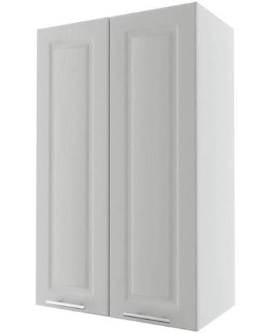 Kuchynská skrinka Emporium W4/60 light grey stone/biela