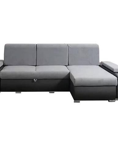 Rohová sedacia súprava Milan Milo 23 + eko čierna