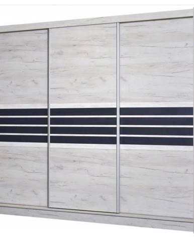 Skriňa Turin Craft 250 cm