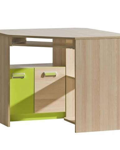Písací stôl 11 Lorento Limetkovo Zelená/Jasan Coimbra