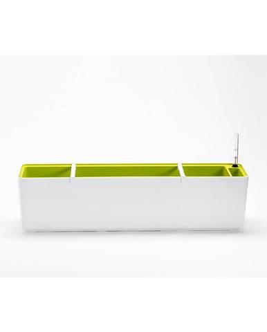 Plastia Samozavlažovací truhlík Berberis 80, biela + zelená