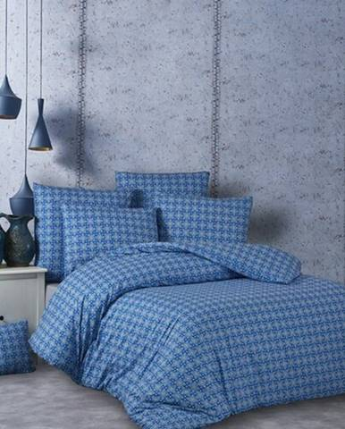 BedTex Bavlnené obliečky Snorri modrá, 220 x 200 cm, 2 ks 70 x 90 cm