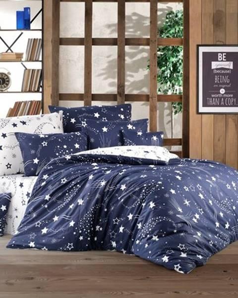 BedTex BedTex Bavlnené obliečky Galaxy modrá, 220 x 200 cm, 2 ks 70 x 90 cm