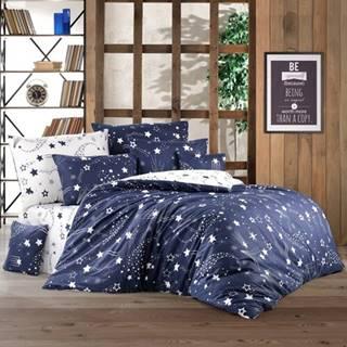 BedTex Bavlnené obliečky Galaxy modrá, 220 x 200 cm, 2 ks 70 x 90 cm