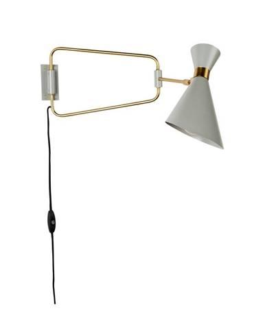 Sivá nástenná lampa Zuiver Shady