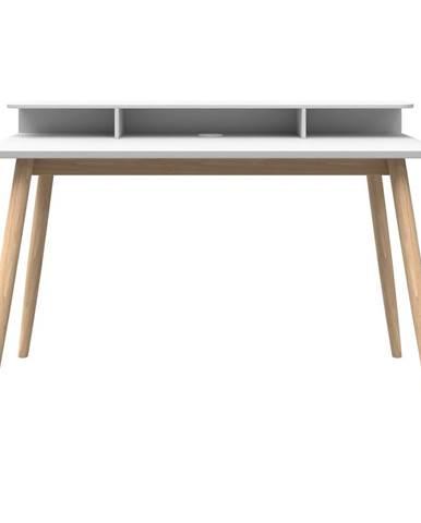 Biely písací stôl Woodman Farsta