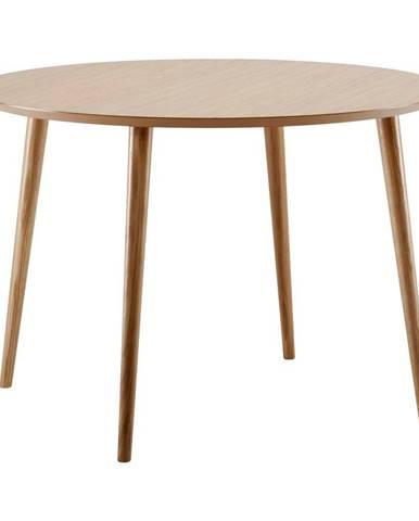 Jedálenský stôl v dubovom dekore Woodman Cloyd, ø 100 cm