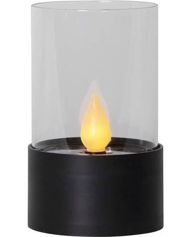 Čierna LED vonkajšia svetelná dekorácia Best Season Puloun, výška 13,5 cm