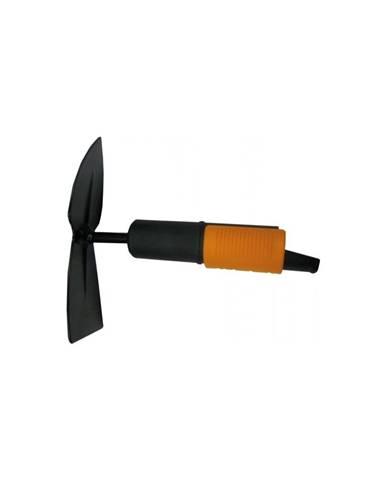 Čierna oceľová dvojstranná okopávačka Fiskars Quikfit