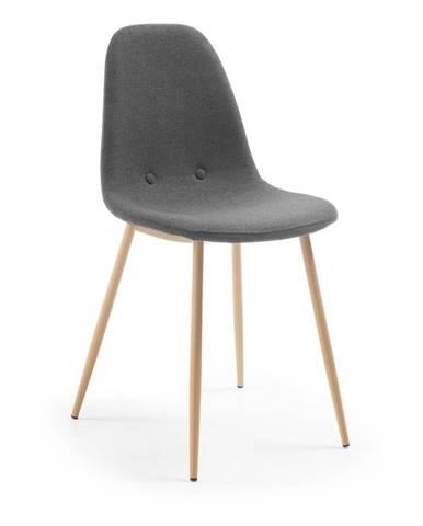 Tmavosivá jedálenská stolička La Forma Lissy