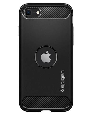 Kryt na mobil Spigen Rugged Armor na Apple iPhone SE 2020 čierny