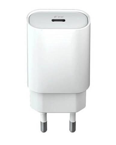 Nabíjačka do siete Forever Core USB-C PD, 18W biela