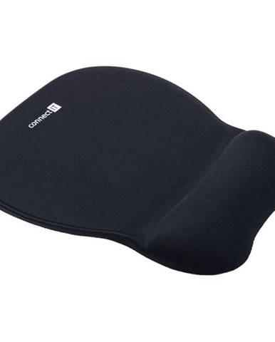 Podložka pod myš  Connect IT se zápěstní opěrkou čierna